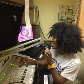 Natasha Nicole in the studio.