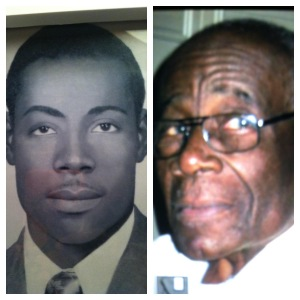 Daddy on the left at age 21...I think. Daddy on the right at 87...I think.