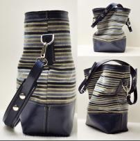 the grey button_leo bag stripe